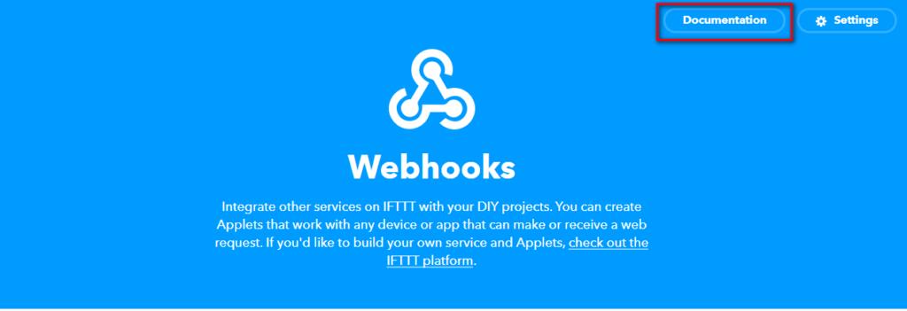 IFTTTのWebhookをたたくためのURLを確認する