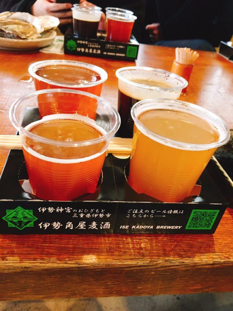 伊勢角谷麦酒さんの飲み比べセット。4種類で税込み1080円