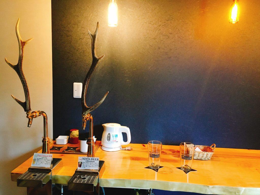 美杉リゾート、クラフトビール火の谷ビールが飲み放題の部屋