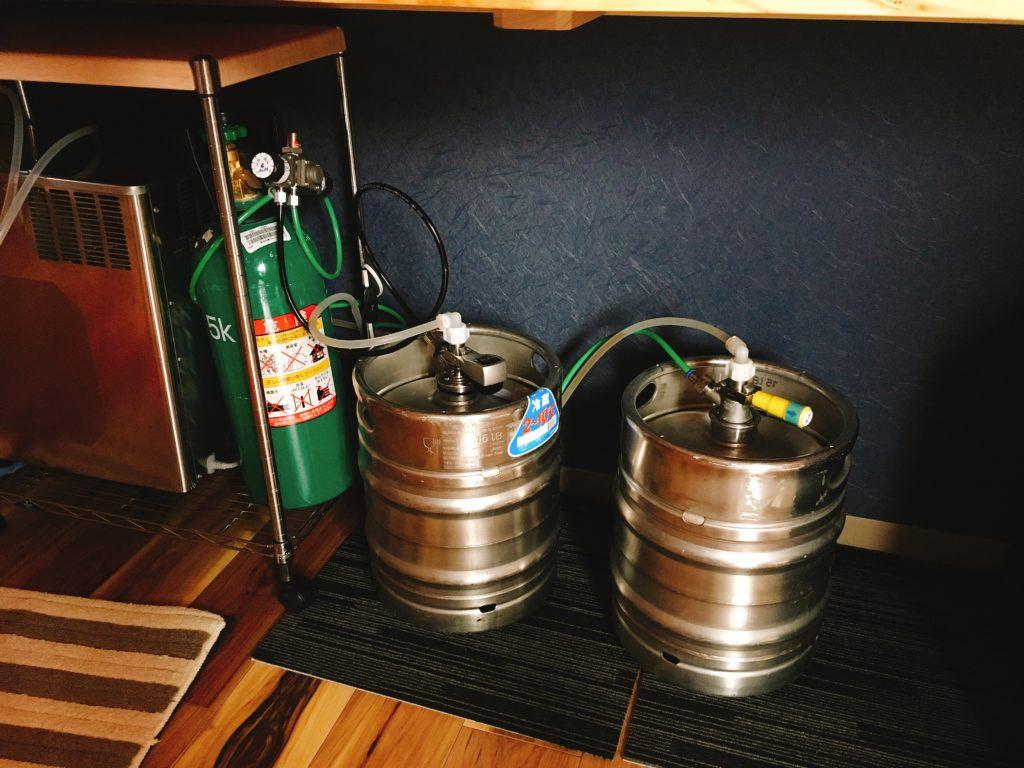 美杉リゾート、クラフトビールの樽。